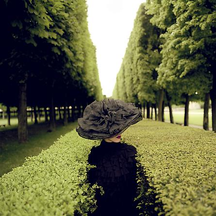 Woman with Hat Between Hedges, Parc de Sceaux, France, 2004