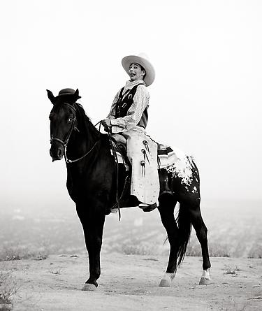Pee Wee on Horse, Los Angeles, 1987