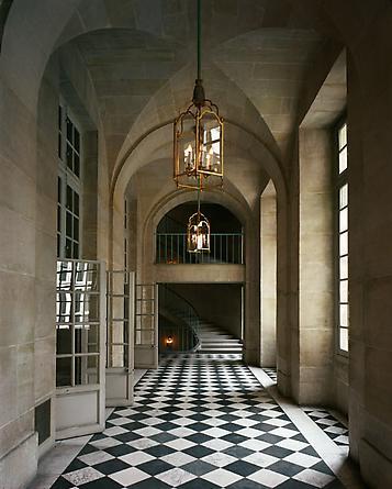 Escalier de l'Opera Royal, ANR.02.066, AIle du Nord - RdC, Versailles, 1985
