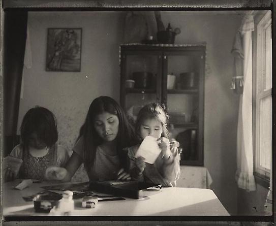 Serena Chief Stick with her NIeces, Box Elder, Montana, 1998