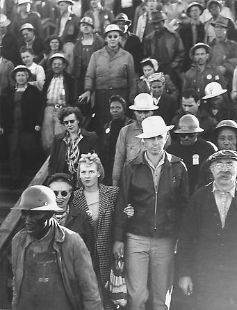 Shipyard Construction Workers, Richmond, California, 1942