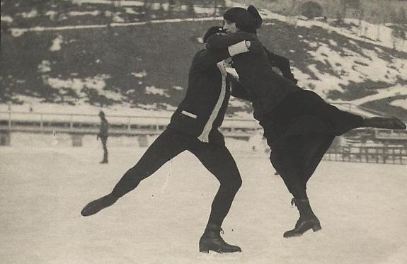 Simone and Charles Sabouret, French Ice Skating Championship, St. Moritz, 1913 [#18]