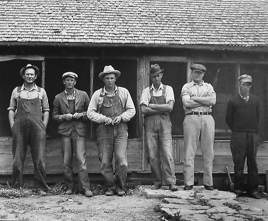 Six Tenant Farmers without Farms, Hardman County, Texas, 1938