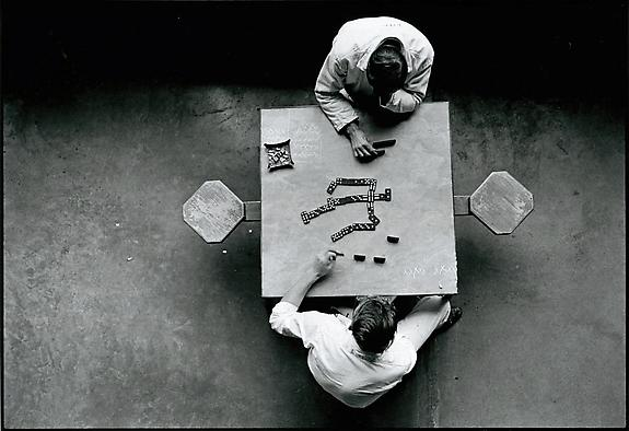 Cell block table, The Walls, 1967