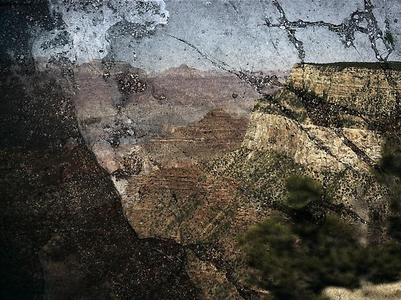 Tent-Camera Image on Ground: View of the Grand Canyon from Trailview Overlook
