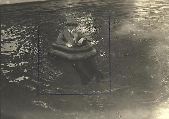 Zissou in his Tire-boat, 1911 [JHL 555]