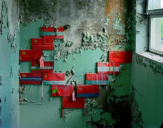 Stairwell in School #5, Pripyat, 2001