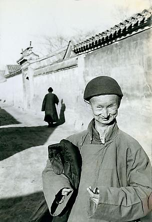 A eunuch of the imperial court of the last dynasty, Peking, 1949