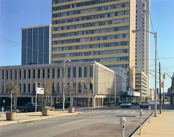 Stephen Shore Center Street and West Third Street, Little Rock, Arkansas, October 5, 1974
