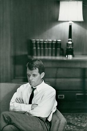 Attorney General Robert Kennedy in his office, Washington, DC, 1961