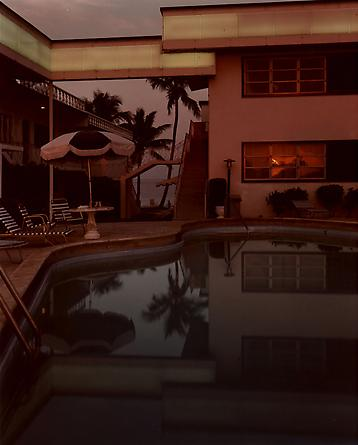 Joel Meyerowitz  Pool, Dusk, Sun in Window, Florida, 1978