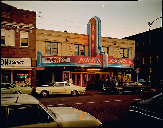 Stephen Shore Bay Theater, Second Street, Ashland, Wisconsin, July 9, 1973