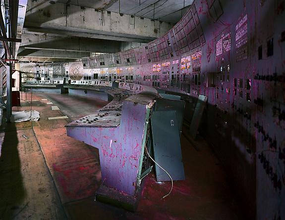 Control Room, Reactor 4, Chernobyl, 2001