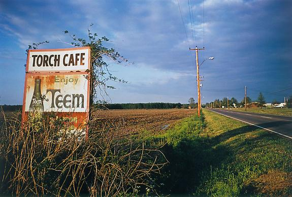 William Eggleston Untitled (Torch Cafe billboard), Mississippi, 1973 [From Dust Bells 2]