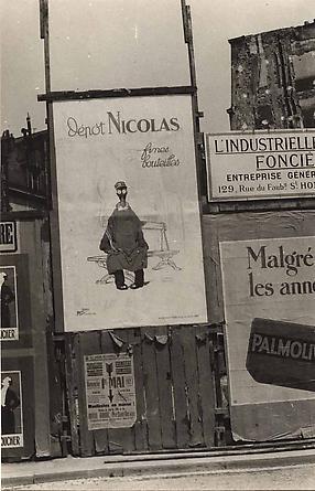 Germain Krull, Panneau Publicitaire L'Affiche des 'Nicolas Fines Bouteilles', 1927