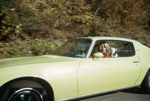 Joel Meyerowitz From the Car, New York Thruway, 1975