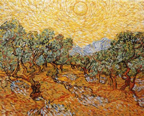 Vik Muniz Olive Trees with Yellow Sky and Sun, After Van Gogh, From Pictures of Pigment, 2007