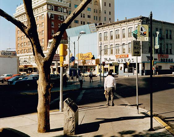 Stephen Shore  El Paso Street, El Paso, Texas,  July 5, 1975