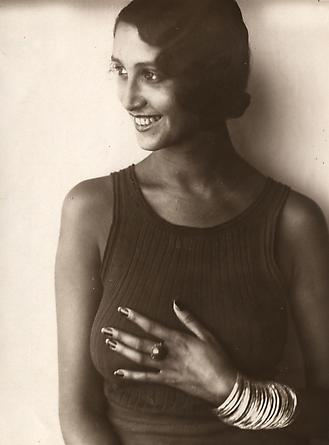 Jacques Henri Lartigue, Renee Perle, Half Portrait in a Sleeveless Top, 1930-32