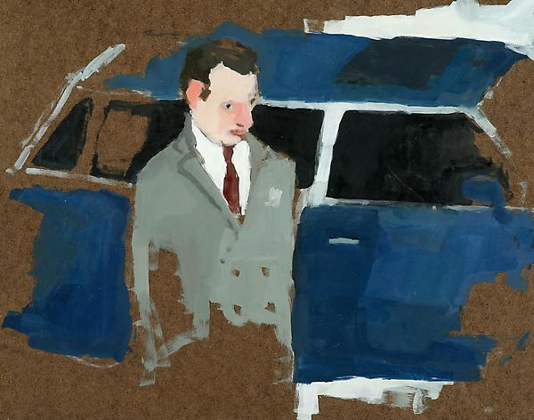 "Blue Limousine, 2010 Oil on panel 11"" x 14"""