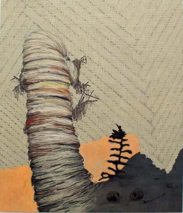 "HÅVARD HOMSTVEDT Earthling 2006 oil and acrylic on linen 84"" x 72"""
