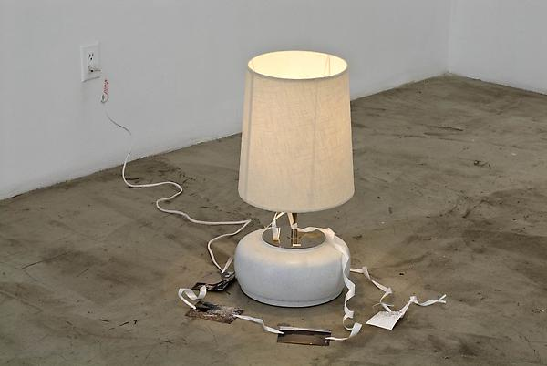Josef Strau Breaking Words, 2006 Mixed media lamp 24 x 26 x 24 inches