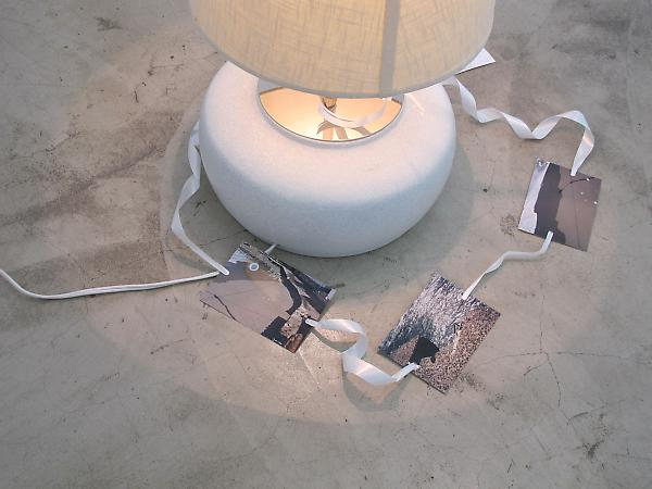 Josef Strau Breaking Words (detail), 2006 Mixed media lamp 24 x 26 x 24 inches