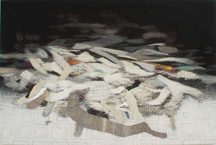 """HÅVARD HOMSTVEDT Remnants 2006 oil and acrylic on linen 72"""" x 108"""""""