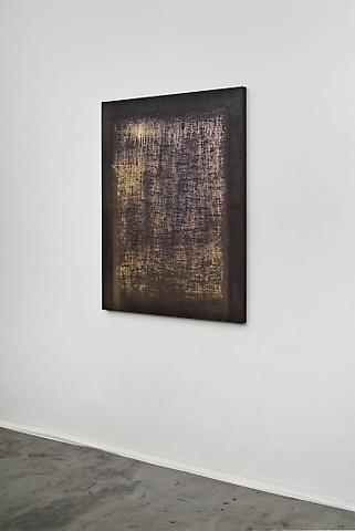 Jacob Kassay Untitled, 2010 Acrylic and silver deposit on canvas 48 x 36 inches