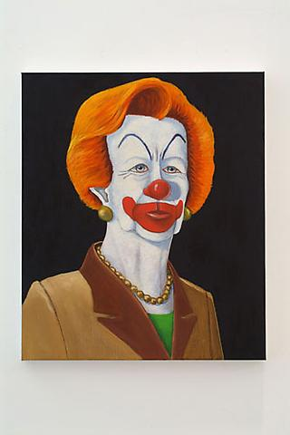 SEAN LANDERS Thatcher, 2002 Oil on linen 26 x 22 inches Courtesy of the artist and Andrea Rosen Gallery
