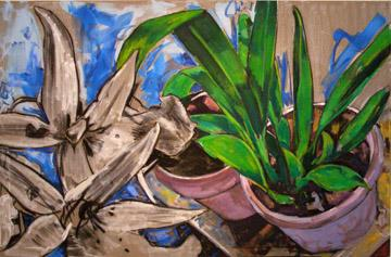 """Orchid"" 48 x 72 inches 2004"