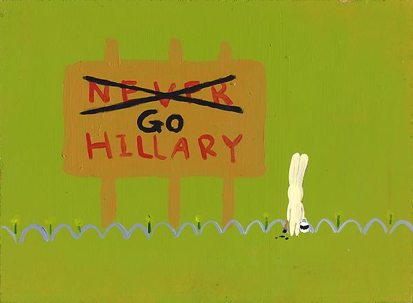 Go Hillary Acrylic on board 19 x 25.8 cm 2009