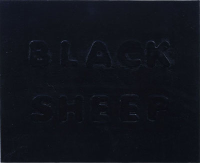 "NINO MEIR ""Black Sheep"", 2005 16 x 20 inches Liquid latex and enamel on canvas"