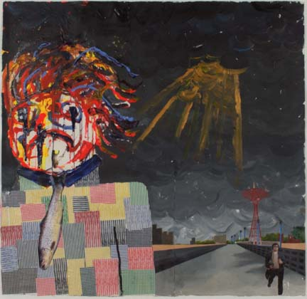 JUSTIN LIEBERMAN The Comedian 2007 50 x 52 inches