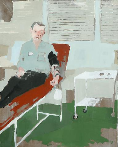 "Blood Draw, 2010 Oil on panel 20"" x 16"""
