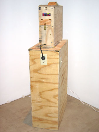"""Closet #23"", 2004 Plywood, acrylic, adhesive, found objects, blacklight, copper nails, etc..."