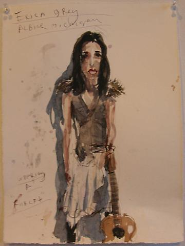 BRAD KAHLHAMER Erica Grey, Albine M.   2005 watercolor on paper 11 x 15 inches photo courtesy of Deitch Projects