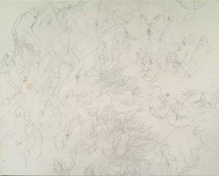 DASHA SHISHKIN Artist Finding No Reason To Continue Listening, 2007 Graphite on panel 16 x 20 inches