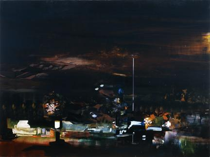 "TOM MCGRATH The Dry Strip 2006 oil on canvas on panel 61"" x 80"""