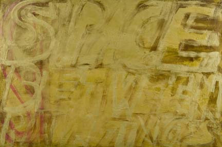 DANA FRANKFORT SPACE BETWEEN PAINTINGS (Gold) 2006 Oil on panel 2'x3'