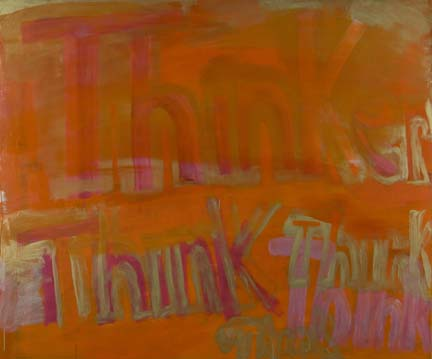 DANA FRANKFORT THINKER (THINK THINK THINK) 2006 Oil on panel 6'x5'