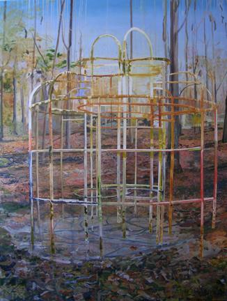 "TOM MCGRATH Monkey Bars 2006 oil on canvas on panel 109"" x 81"""