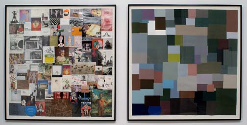 JUSTIN LIEBERMAN Elective Affinities with Monochromatic Color Average Shift 2007 58 x 58 ½ inches each