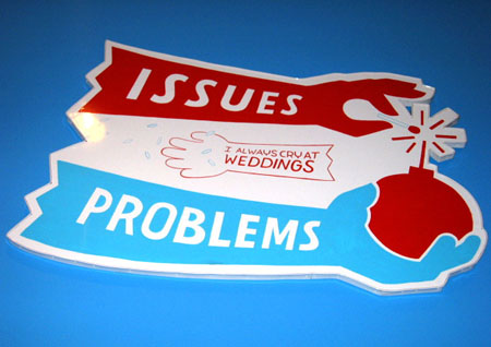 """Happy Marriage"", 2003 Enamel on aluminum. 26-1/2 x 37 inches"