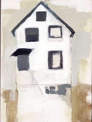 "House, 2010 Oil on panel 8"" x 12"""