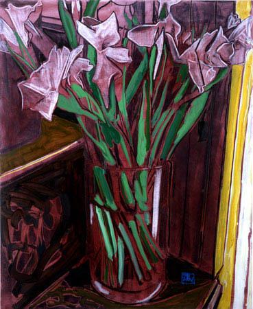 """""""Irises"""" 60 x 48 inches 2004"""