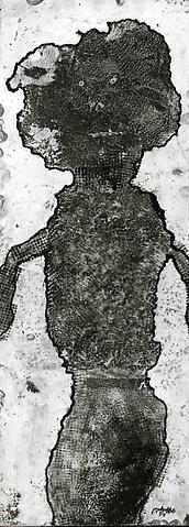 Femme Aux Vetements Laineux, oil on paper 25 x 9 inches