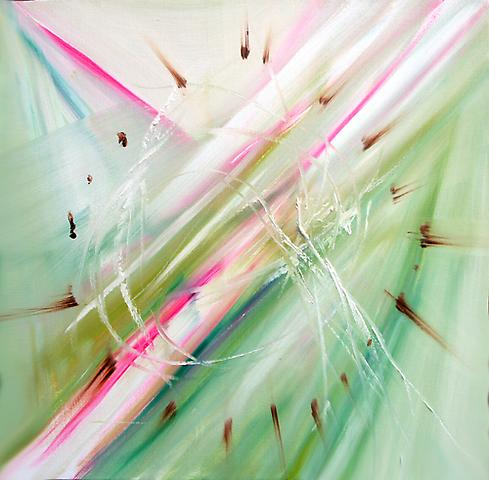 DANIEL HESIDENCE Untitled (Waltz Paintings) 2005 oil paint on canvas 18 x 18""