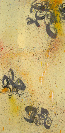 Untitled, 2003 Acrylic and spraypaint on wood 36 x 18 inches