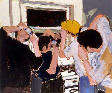 """""""The Drinkers"""" 60 x 71 3/4 inches 2003"""